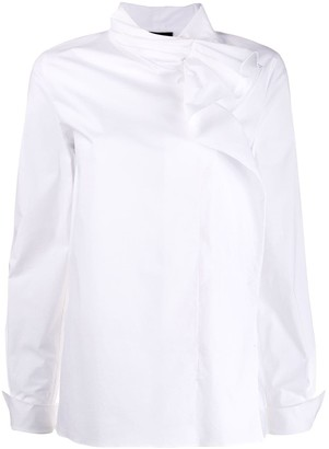 Escada Side Ruffle Detail Shirt