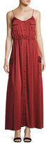 Haute Hippie Born Again Safari Button-Front Maxi Dress