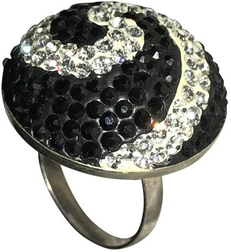 Non Signé / Unsigned Non Signe / Unsigned Bagues Cocktails Black Silver Rings