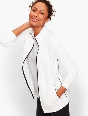 Talbots Pique Zip Front Jacket