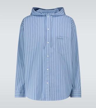Balenciaga Hooded cocoon shirt