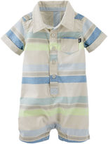 Osh Kosh Oshkosh Short-Sleeve Striped Romper Bodysuit - Baby Boys newborn-24m