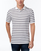 Club Room Men's Performance Striped Polo, Created for Macy's