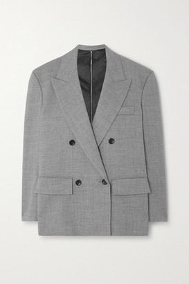 we11done Zip-detailed Double-breasted Woven Blazer - Gray