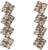 Pilgrim Classic Rose Gold Plated Crystal Zigzag Earrings 621614003