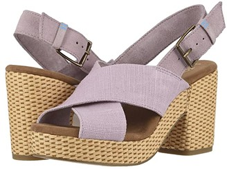 Toms Ibiza (Burnished Lilac Heritage Canvas/Suede) Women's Sandals