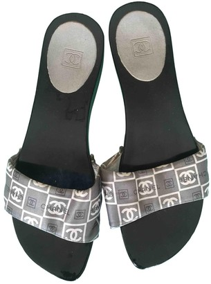 Chanel Anthracite Plastic Sandals