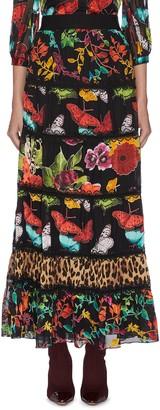 Alice + Olivia Lesa' panelled maxi skirt