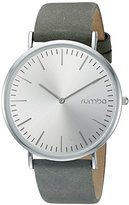 RumbaTime Women's 'SoHo Suede Pewter' Quartz Metal and Leather Suede Casual Watch, Color:Grey(Model:22636)