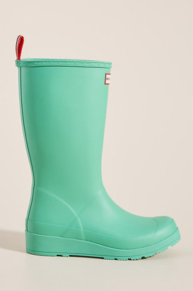 Hunter Play Tall Rain Boots By in Green Size 6