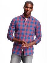 Old Navy Slim-Fit Soft-Wash Plaid Shirt for Men