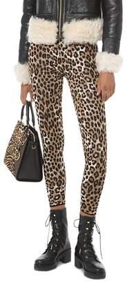 MICHAEL Michael Kors Leopard Jacquard Stretch Leggings