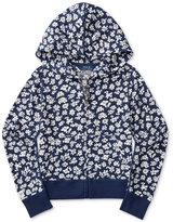 Ralph Lauren Floral-Print Full-Zip Hoodie, Big Girls (7-16)