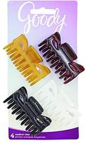Goody Medium Claw Hair Clips, Assorted Colors, 4-Count (1942437)
