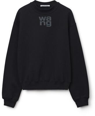 Puff Logo Sweatshirt In Structured Terry