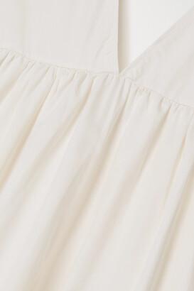 Kalita Circle Day Tiered Cotton-poplin Maxi Dress - White