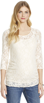 Motherhood Jessica Simpson Lace Maternity Shirt