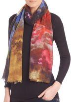 Bindya Cloud-Print Cashmere & Silk Scarf