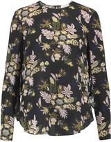 A.L.C. Cooper open-back printed silk-georgette top