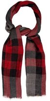 Burberry Linen Check Pattern Scarf