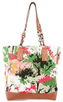 Milly Printed Canvas Tote