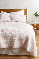 Anthropologie Embroidered Melvyn Coverlet
