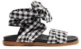 Marques Almeida MARQUES'ALMEIDA Wraparound gingham sandals