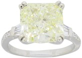 14K White Gold 6.05 Ct Diamond Ring Size 6.5