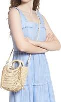 Thumbnail for your product : Mali & Lili Straw Half Moon Crossbody Bag