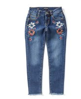 Miss Me Girls Big Girls 7-16 Embroidered Skinny Ankle Jeans