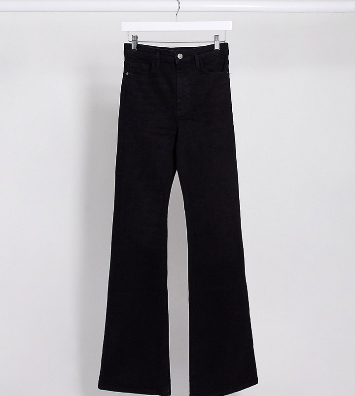 Thumbnail for your product : Stradivarius Tall flare jeans in black