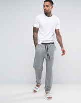Asos Tapered Jogger In Textured Fabric With Turn Up Cuffs