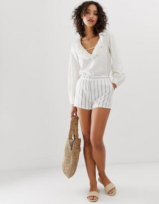 Vero Moda high waist stripe shorts