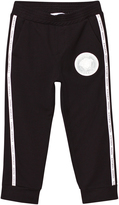 Versace Black Sweat Pants with Branded Trim