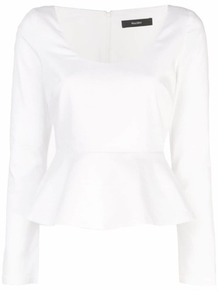 Ellery long-sleeved peplum blouse