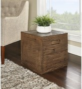 Ash Woodsburgh Crate Accent Stool Millwood Pines Color Brown