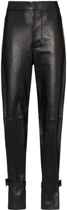 Bottega Veneta Ankle Strap Wide Trousers