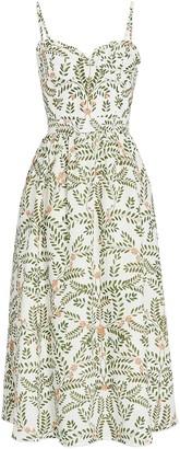 Agua Bendita Acacia Bustier Floral Maxi Dress