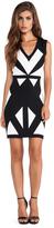 BCBGMAXAZRIA Evinna Geometric Dress