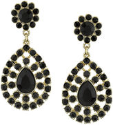 1928 Jewelry 1928 Black Gold-Tone Statement Earrings