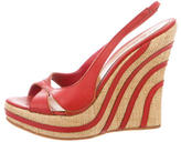 Alexander McQueen Leather Slingback Wedges