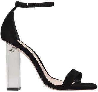Schutz Sandals In Black Suede