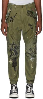 R 13 Khaki Embroidered Surplus Cargo Pants