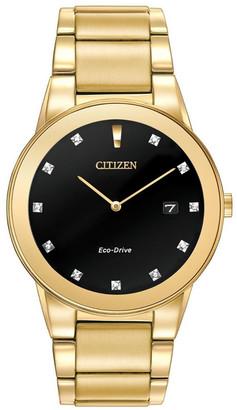 Citizen Men's Stainless Steel Diamond Watch