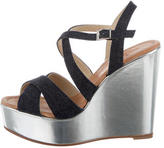 Kate Spade Denim Wedge Sandals