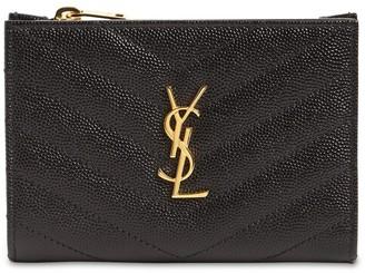 Saint Laurent Bi-Fold Quilted Leather Wallet