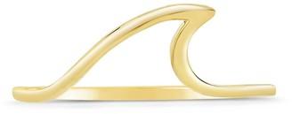 Sterling Forever 14K Gold Vermeil Polished Wave Ring