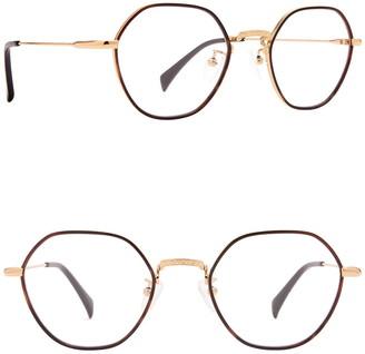 Diff Eyewear Ridley 50mm Modified Round Blue Light Blocking Glasses