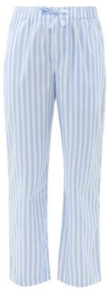Tekla - Striped Organic-cotton Pyjama Trousers - Blue Stripe