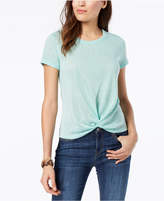 Style&Co. Style & Co Petite Knot-Front T-Shirt, Created for Macy's